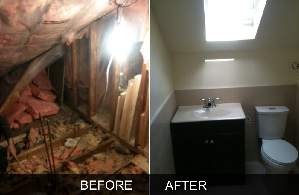 Bathroom renovations before and