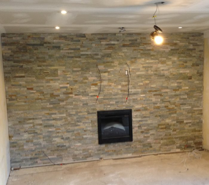 Stone Fireplace Renovation