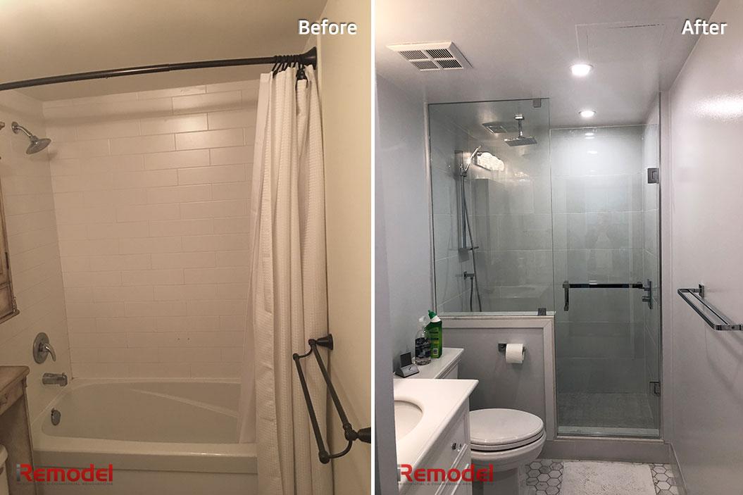 Amazing Bathroom Renovation Toronto Before After Photo