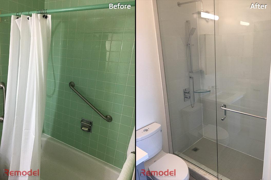 Bathroom Stand Shower Renovation Iremodel