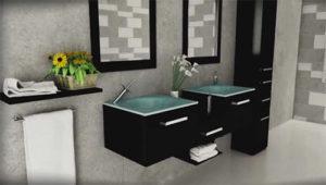 estrella double bathroom wall mounted vanity