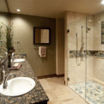 modern bathroom stand shower design