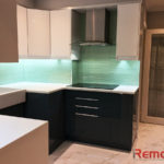 modern kitchen renovation quartz countertop photo 2