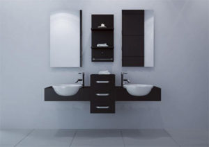 modus wall mounted double bathroom vanity