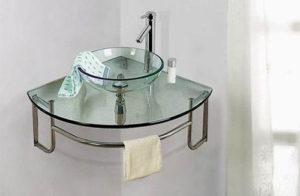 ordinato corner single bath vanity