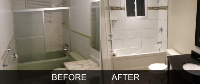Bathroom B Before and After