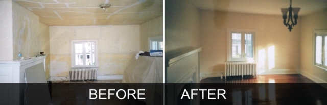 Historic Renovation Before and After