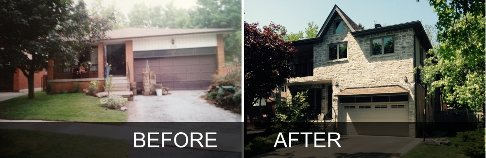 Home Addition Before and After