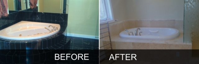 Whirlpool bathtub renovation before and after