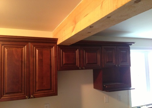 Support Beam in Kitchen Renovation