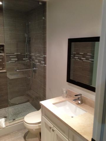 Bathroom Renovation with Quartz Countertop Vanity