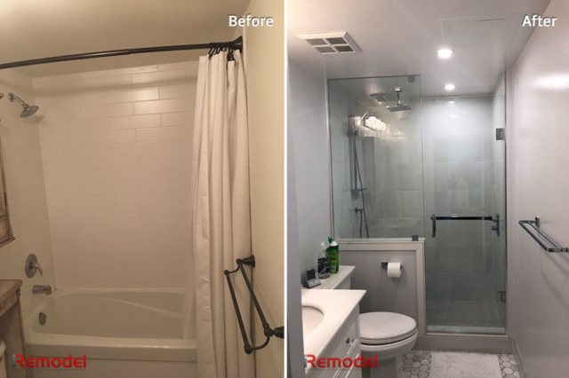 Amazing Bathroom Renovation Toronto Before After Photo