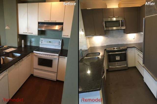 amazing kitchen refacing toronto before and after photo