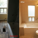 bath top renovation before and after photo