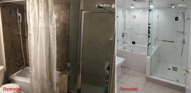 Bathroom Renovation Toronto Before After Photo