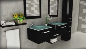 estrella double bathroom wall mounted vanity