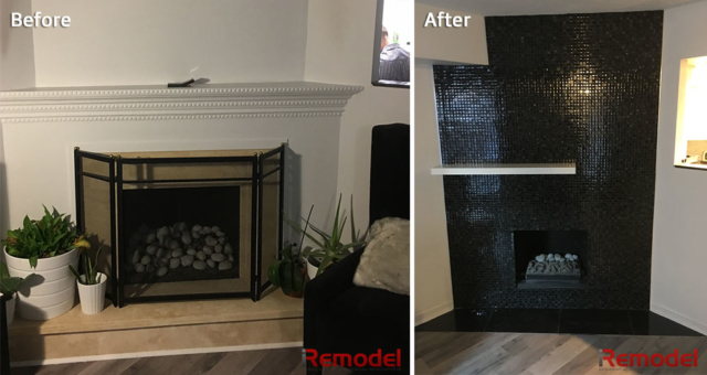Fireplace Renovation Before And After