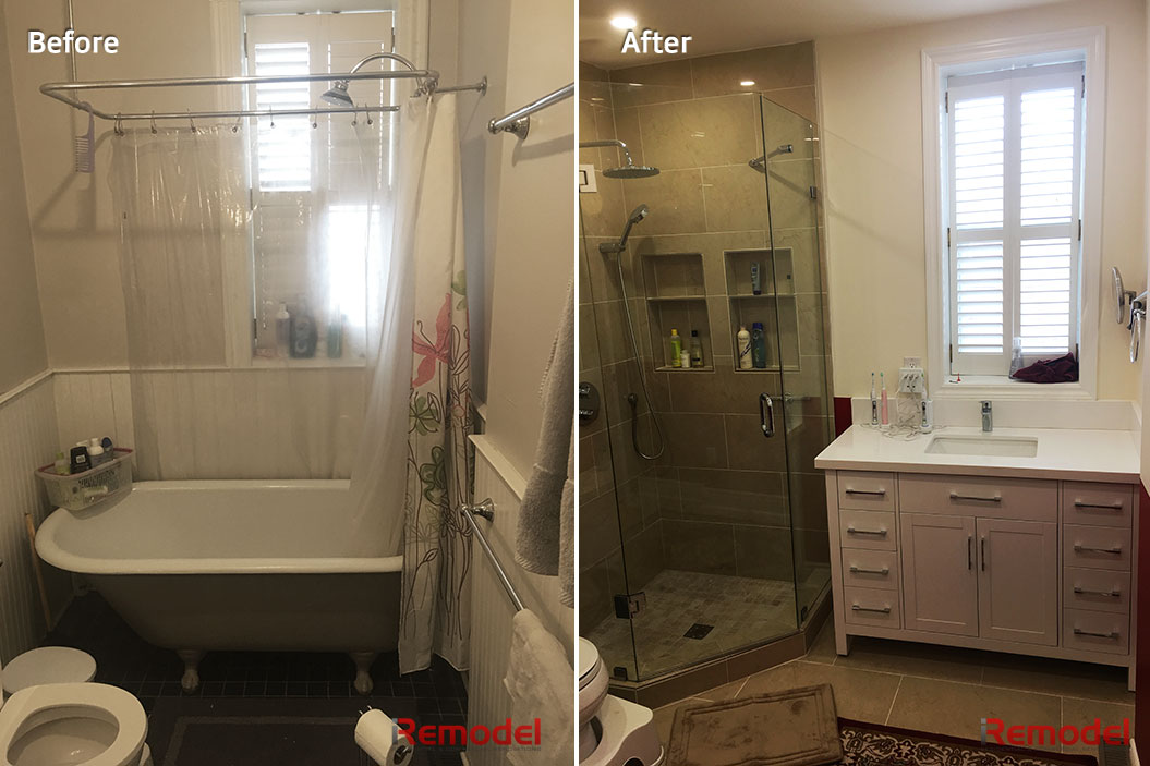 Historical House Bathroom Renovation Before After Photo
