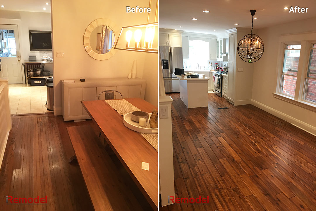 home renovation before and after photo