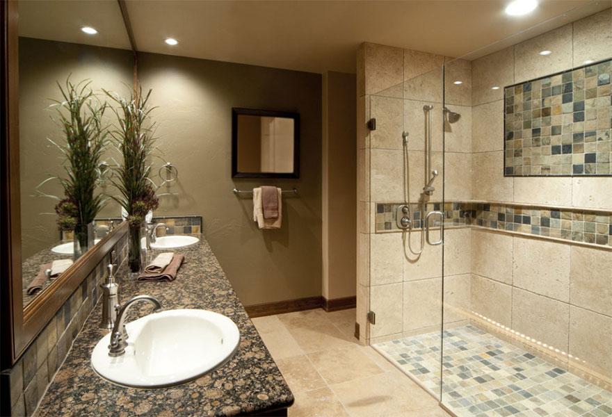 Modern bathroom stand shower design