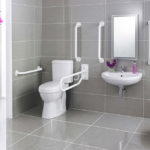 modern floating vanity handicap accessible