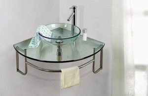 ordinato corner single bath vanity