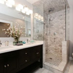 small bathroom remodel in toronto with double sink vanity