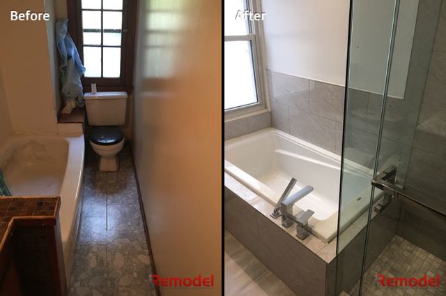 Small Bathroom Renovations Before And After Photo 2