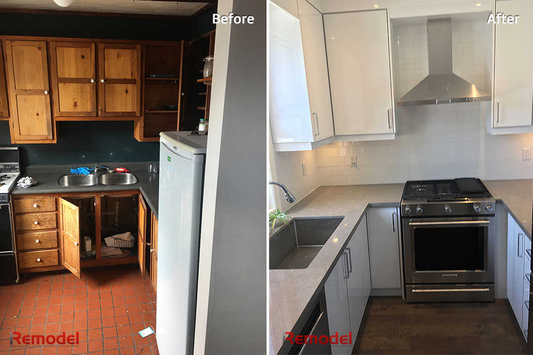 Small Kitchen Renovation Before After Photo 1