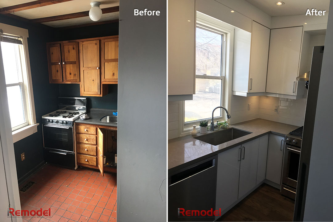 Small Kitchen Renovation Before After Photo 2