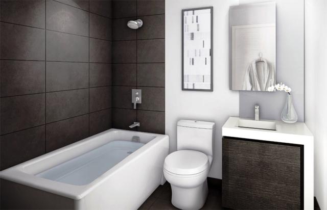 small modern bathroom makeover