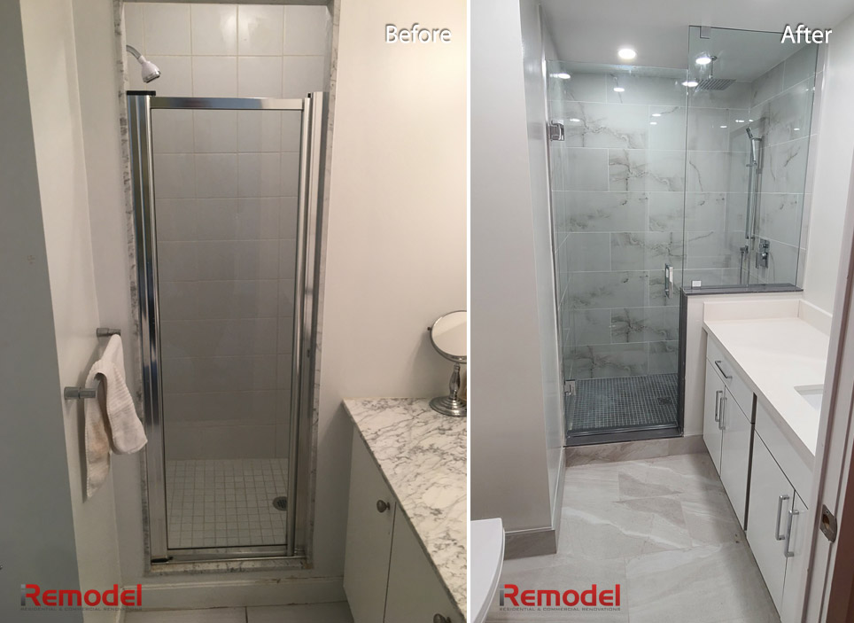 Toronto Bathroom Renovation Before After Photo